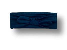 Haarband groot donkerblauw