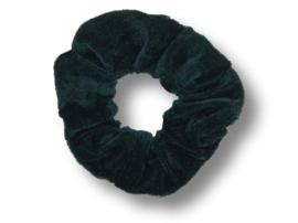 Scrunchie velvet zwartgroen