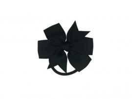 Haarelastiek met grote strik zwart