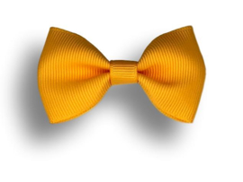 Luxe haarstrik geel
