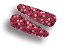 Haarspeldjes roze met witte bloemetjes