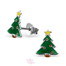 Zilveren kinderoorbellen kerstboom