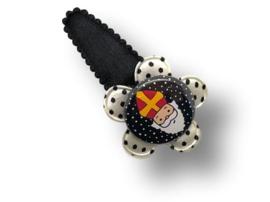 Haarspeldje Sinterklaas zwart-wit