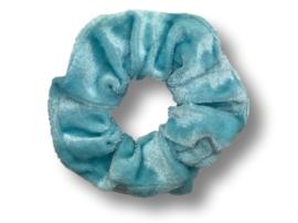 Scrunchie velvet ijsblauw