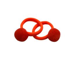 Haarelastiek oranje met pompom
