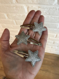 Haarspeldje met ster zilver-zilver