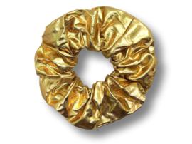 Scrunchie metallic goud