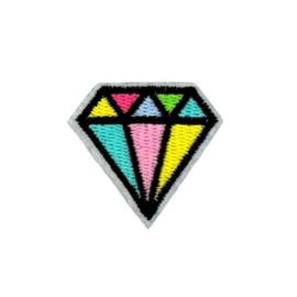 Strijkapplicatie diamant | 4 x 4 cm