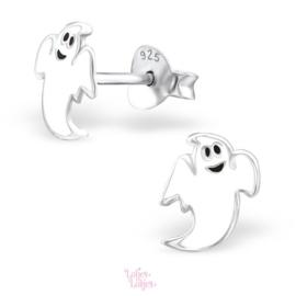 Zilveren kinderoorbellen lief spookje