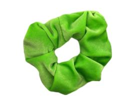 Scrunchie velvet neon groen