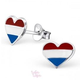 Zilveren kinderoorbellen hartje NL