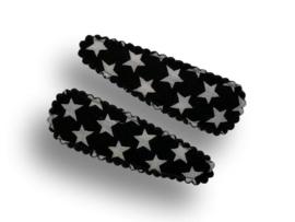 Haarspeldjes zwart met witte sterren