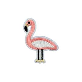 Strijkapplicatie flamingo lichtroze | 5,5 x 7 cm