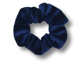 Scrunchie velvet donkerblauw