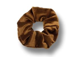 Scrunchie velvet bruin rib