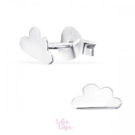 Zilveren kinderoorbellen wolkje | zilver