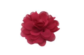 Haarbloem chiffon roze