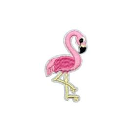 Strijkapplicatie flamingo roze | 3,5 x 6,5 cm