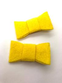 Haarstrik vilt geel (per stuk)