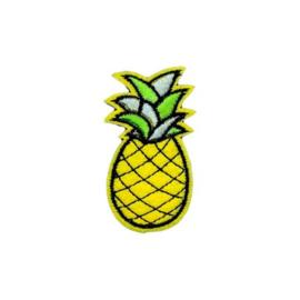 Strijkapplicatie ananas | 3,5 x 6 cm