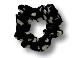 Scrunchie zwart dots