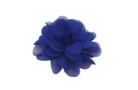 Haarbloem chiffon felblauw