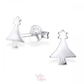 Zilveren kinderoorbellen kerstboom | zilver