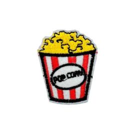 Strijkapplicatie popcorn | 4 x 5 cm