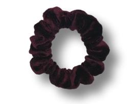 Scrunchie velvet wijnrood donker mini