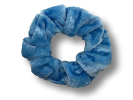 Scrunchie velvet lichtblauw