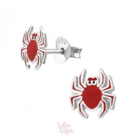 Zilveren kinderoorbellen spin