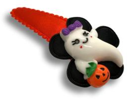 Haarspeldje oranje met lief spookje | Halloween