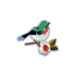 Strijkapplicatie vogel | 7,5 x 6,5 cm
