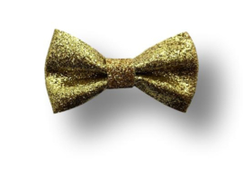 Glitter haarstrikje goud