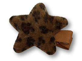 Haarlokspeldje ster panter bruin
