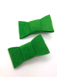 Haarstrik vilt groen (per stuk)