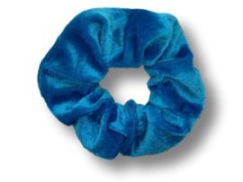 Scrunchie velvet azuurblauw