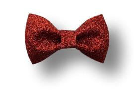 Glitter haarstrikje rood