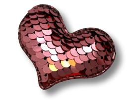 Haarlokspeldje verander hart roze-goud
