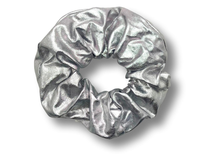 Scrunchie metallic zilver