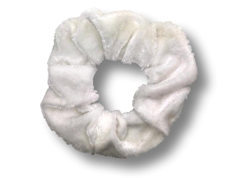 Scrunchie velvet wit