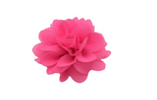 Haarbloem chiffon neon roze