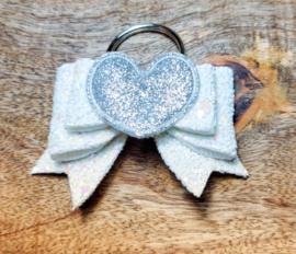 Sleutelhanger zilver hart