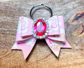 Sleutelhanger roze kerst