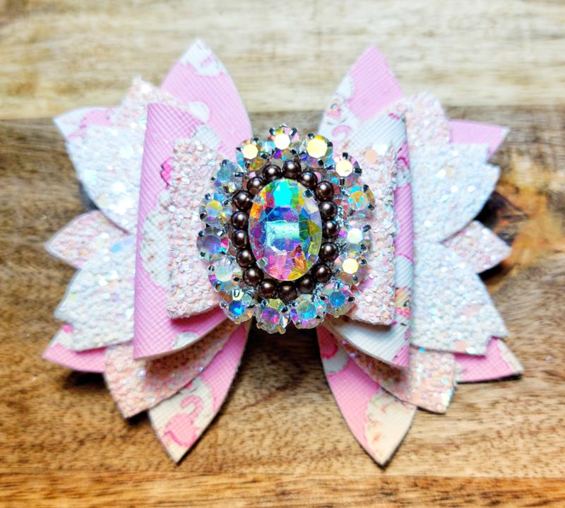 Haarspeld luxe roze kerst