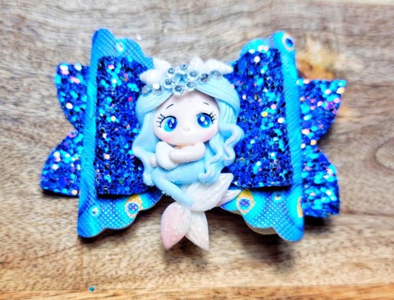 Haarspeld mermaid blauw