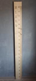 Groeimeter 200cm Steigerhout Transparant - Vanaf €69,99 - Gratis verzenden