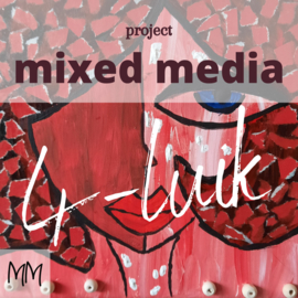 Thuisworkshop mixed media 4-luik