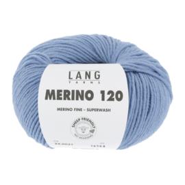 Merino 120 34.0021 Licht Jeansblauw
