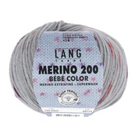 Merino Bebe 155.0361 grijs/rood